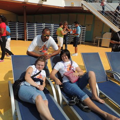 Galveston, Texas - Mike-Jamie-Bethany on the lido deck