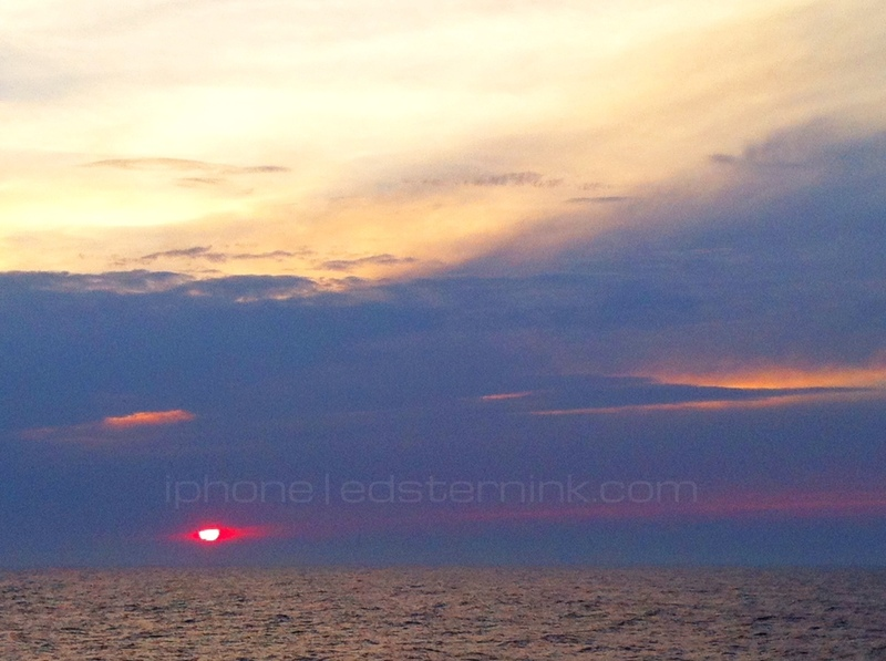 Sunset; View from Cabin - Carnival Splendor