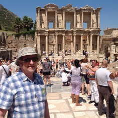 myself at Ephesus, probably a highlight.