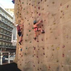 Katelynn Rock Climbing