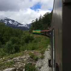 Train ride to White Pass