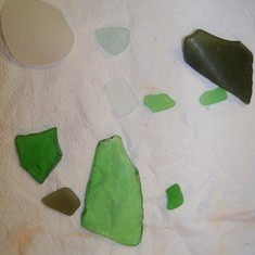 Grand Turk Island - Sea glass I collected on the beach at Grand Turk.
