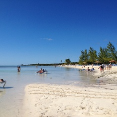 Beach at coco cay.