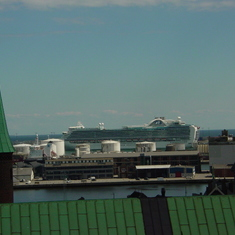 The Emerald Princess from an emerald roof.