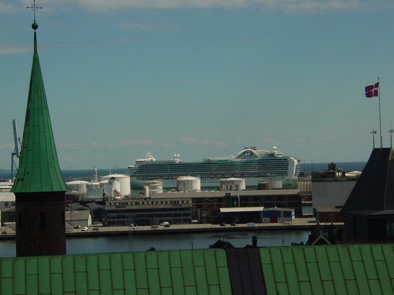 The Emerald Princess from an emerald roof. - Emerald Princess