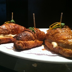 Best tapas ever -- hot chorizo on a croissant at V.O. restaurant