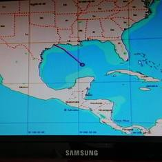 our route to Cozumel and Progresso