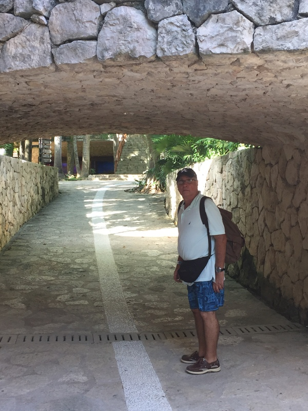 Under the bridge, Xcaret Park - MSC Divina
