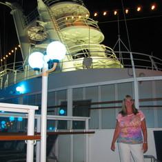 the ship at night