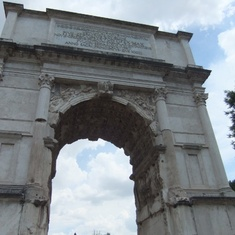 Arch of Titus in the Roman Forum.