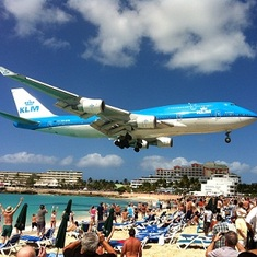 Philipsburg, St. Maarten - Airport Beach in St. Maarten