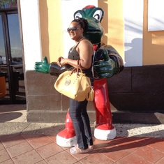 San Juan, Puerto Rico - That frog taking my wife from me......hmmmmm