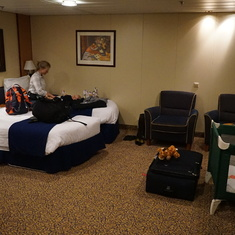A roomy stateroom.