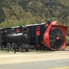 A snow-removal train