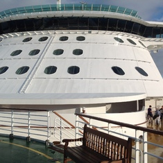 Brilliance of the Seas From the Helipad
