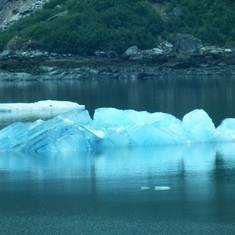 Cruise Tracy Arm Fjord, Alaska - One stunning blue iceberg