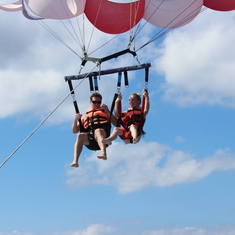 Couples Parasailing