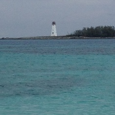Lighthouse off of Nassau beach!