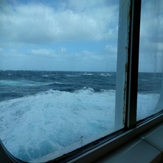rough seas coming into Encenada