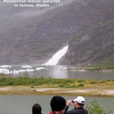 Waterfall at Mendenhall Glacier in Juneau