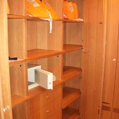 Walk-In Closet in Pinnacle Suite, Cabin 7001 taken in Feb 2012 Voyage