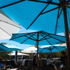 The umbrellas were just so wonderful on this very sunny and hot Bermudan day.