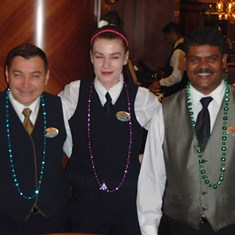 Best Wait staff on Board - Juan Gonzalez, Sanja, & Anil William