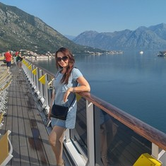 Getting into the port of Kotor, Montenegro