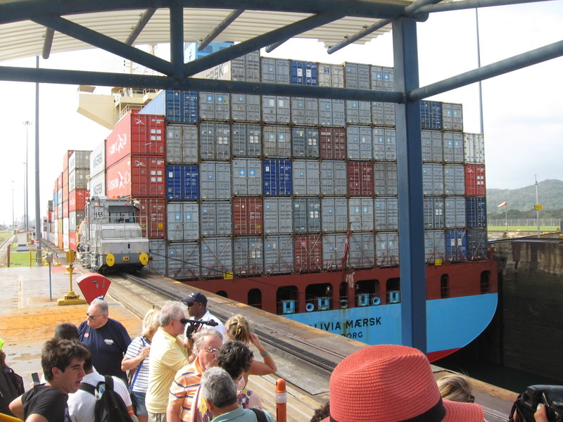 Shore excursion included tour of Gatun Locks operation - Coral Princess