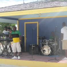 Band singing on Coco Cay