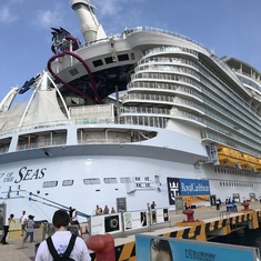 Docked at Cozumel
