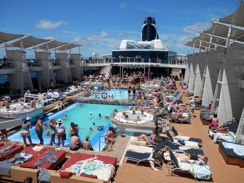 Pool area a little crowded but it was ok. - Celebrity Reflection