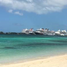 Nassau beach.