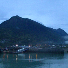 Skagway, Alaska - sailing into port