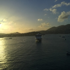 Charlotte Amalie, St. Thomas - Sunset over St. Thomas