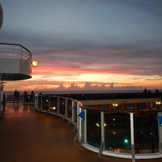 beautiful sunset Carnival Legend