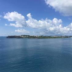 Looking out to Bermuda