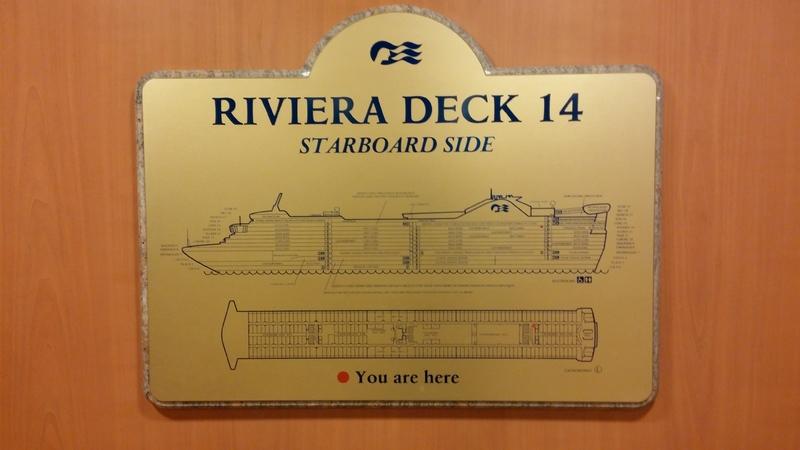Rivera Deck Sign - Caribbean Princess