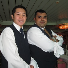 Dinner staff. Mario and Rohan. Amazing!