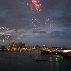 Miami, Florida - Fireworks over Miami.