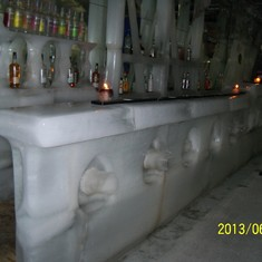 The ice bar at Magic Ice.