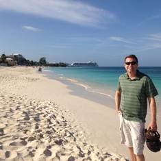 After a short busride we walked the beach - Royal Palms resort, Grand Cayman