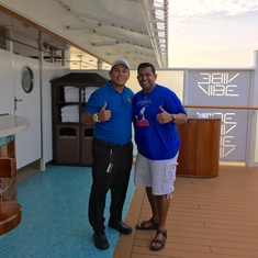 Jeff in the Vibe Beach Club - THE BEST BARTENDER ON THE SHIP!!