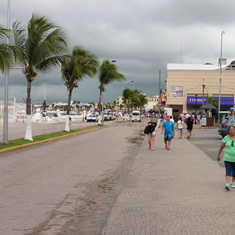 The seaside boulevard of Cozumel