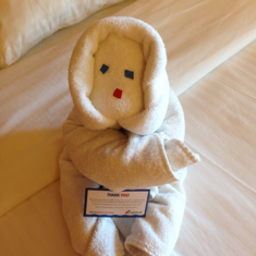 Towel Snowman from out steward DWI