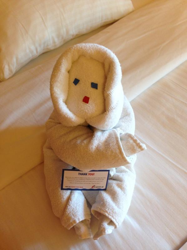 Towel Snowman from out steward DWI - Carnival Triumph