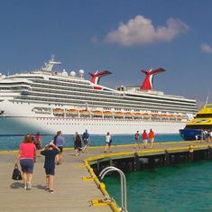 Cozumel, Mexico - Yellow boat is called the Vomit Comet