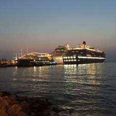 Celebrity Reflection at Nigh in Turkey