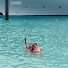 My Aunt and Cousin loving the water!