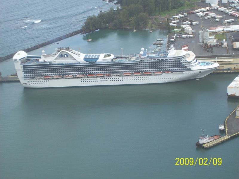 overhead view - Golden Princess